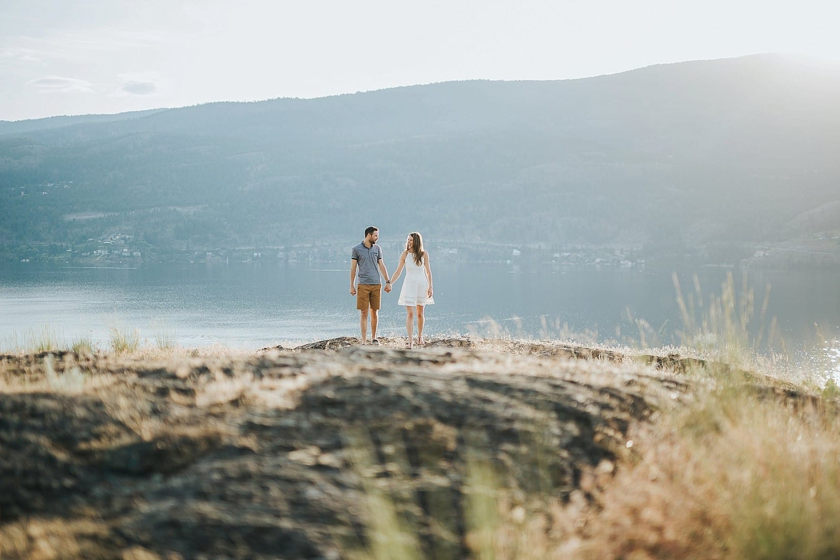 Best of Kelowna Photographers Josh and Carly shooting this Knox mountain Engagement Photography session!