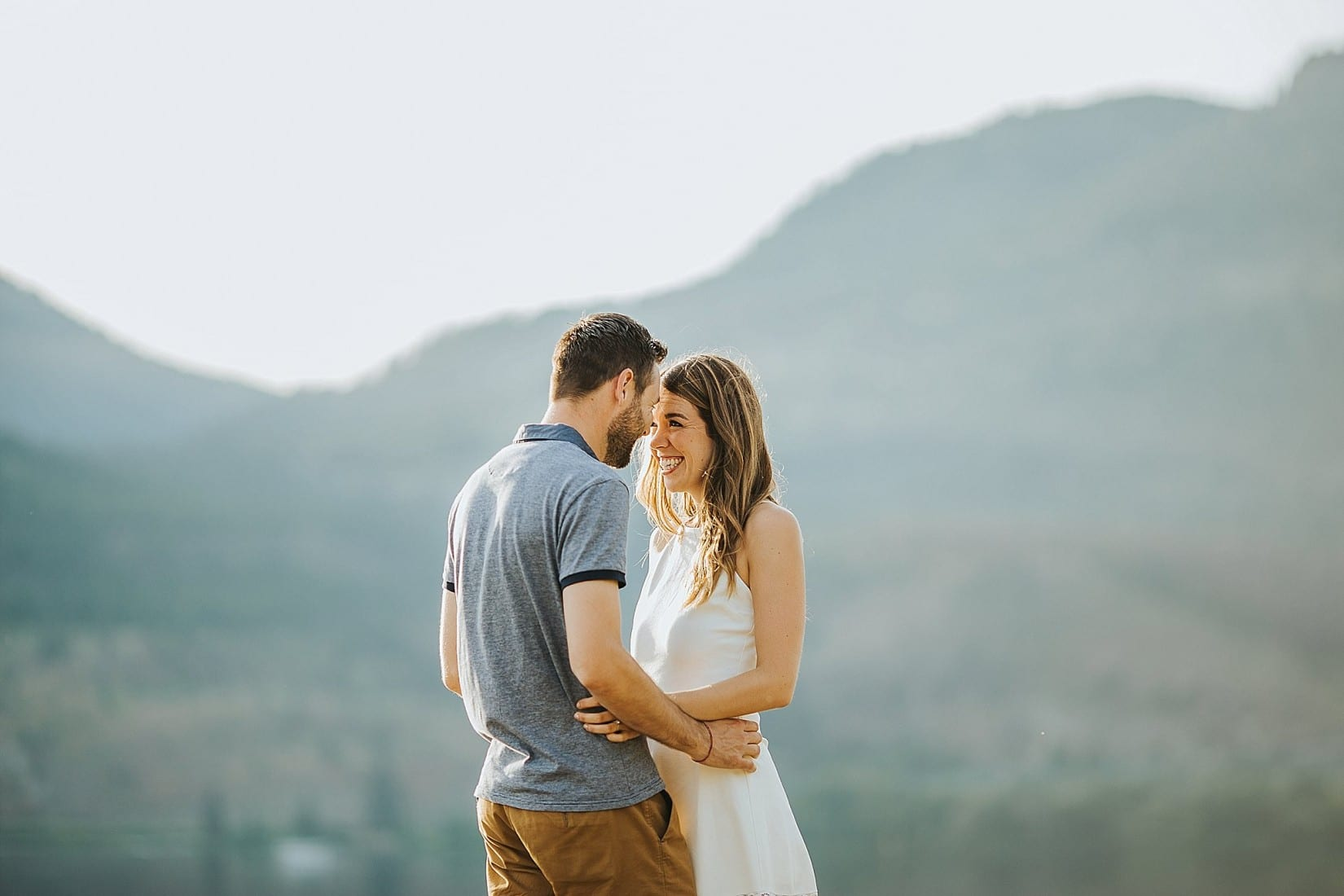 Knox Mountain Engagement Photography Kelowna