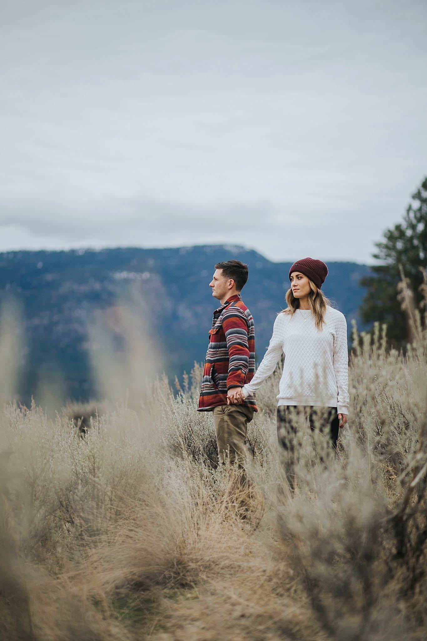 Knox Mountain Engagement in Kelowna Okanagan Wedding