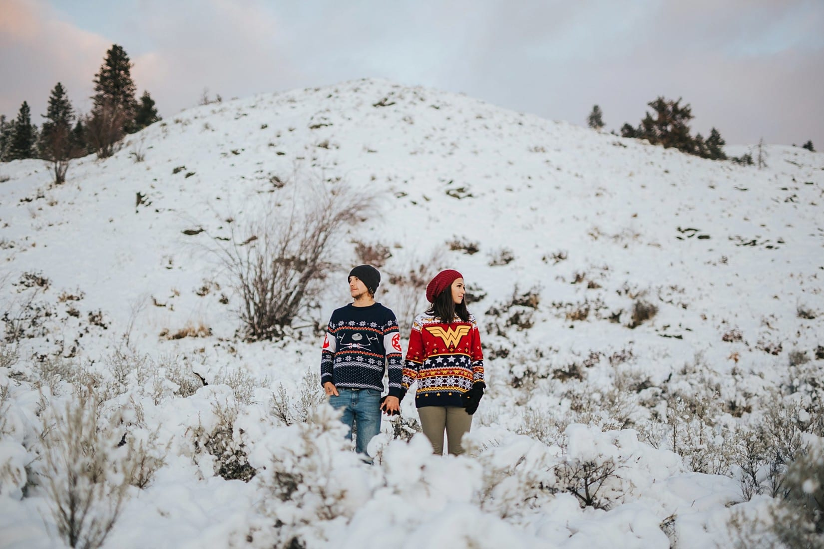 Winter Engagement Photography Session in Kelowna
