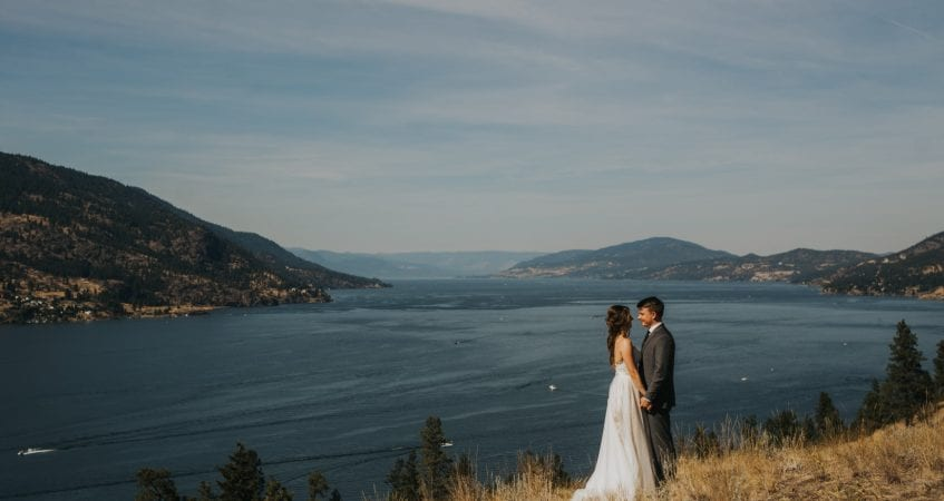 Kelowna Photographers Barnett Photography Knox Mountain Wedding