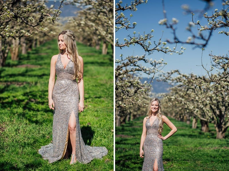 Kelowna Photographer Okanagan Grad Prom Photography Orchard Blossoms British Columbia_2529